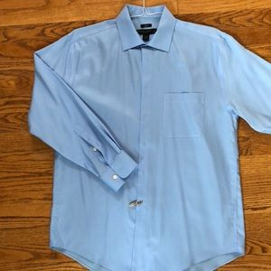Pronto Oumo blue long sleeved dress shirt